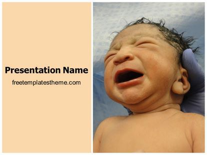 Get This Free New Born Baby Powerpoint Template With Different