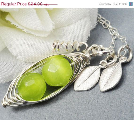 ON SALE Two  Peas In A Pod All Sterling by ThePeasInAPodShop, $21.12