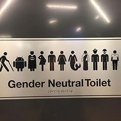 Googles Gender Neutral Bathroom Sign Has Batman Jedi Pirate - Gender neutral bathroom signs
