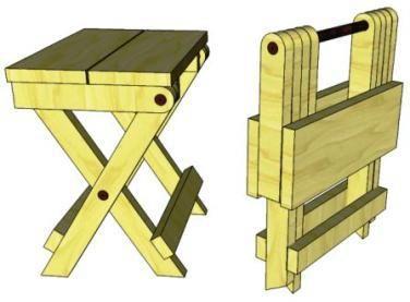 D04 Folding Stool Folding Wooden Stool Diy Stool