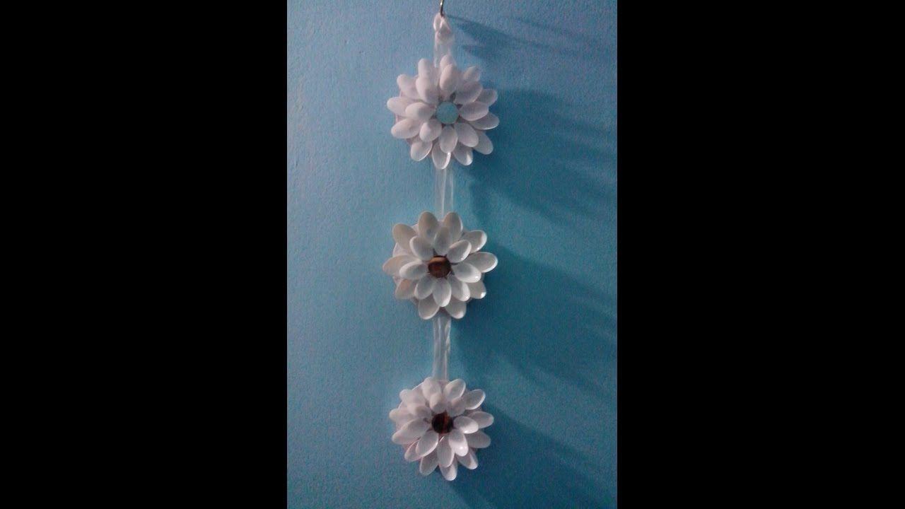 palpstic spoon  flower  wall hanging.