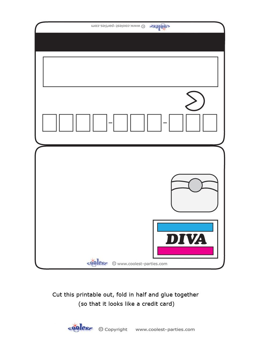 We\'ve created these Credit Card-shaped invitations (for great ...