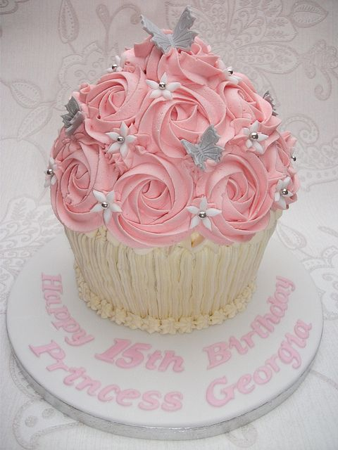 Stupendous Birthday Giant Cupcake With Images Cupcake Smash Cakes Personalised Birthday Cards Sponlily Jamesorg