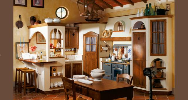 Credenza Rustica Fai Da Te : Cucina rustica con credenza angolo