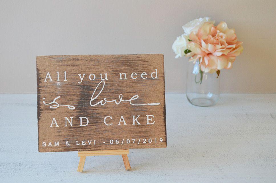 Rustic Sign Wedding Sign Cake Table Wedding Cake Sign Personalised Wed Vintage Wedding Cake Table Wedding Cake Table Decorations Personalized Wedding Decor