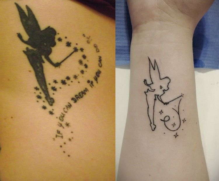 tinkerbell silhouette mit zauberstab und sternchen tattoos pinterest tattoo tatoo and. Black Bedroom Furniture Sets. Home Design Ideas