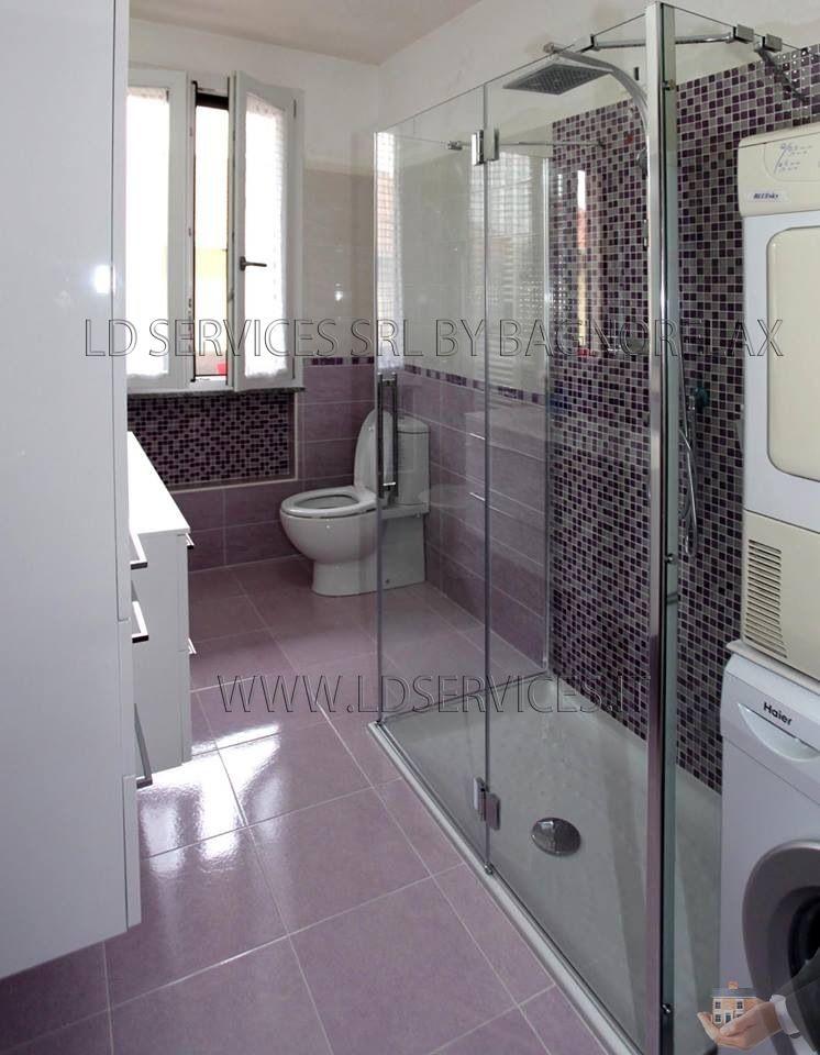 Ristrutturazione nuovo bagno rivestimento lilla bagni lilla pinterest - Bagno lilla e bianco ...