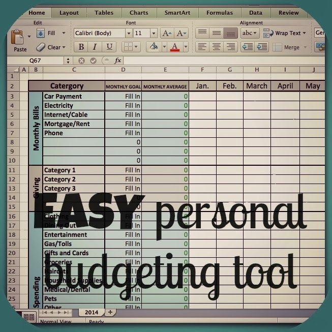 excel budget template organizing brilliance pinterest
