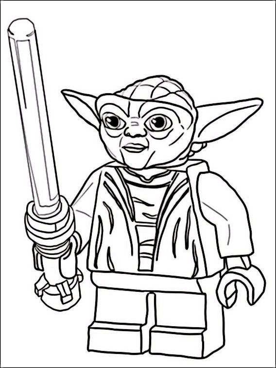 Lego Star Wars Coloring Pages 1 | lucas | Pinterest | Lego star wars ...