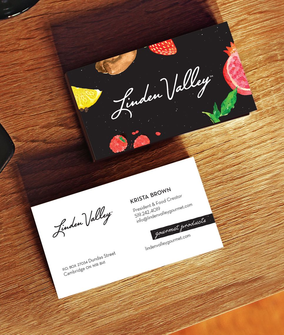 Linden Valley Gourmet | Business Card #businesscard #eats #artisan ...