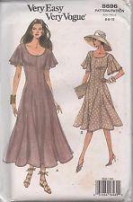 ****Vogue 8696 Womens Flared Dress Elegant Size 6 -10 *****