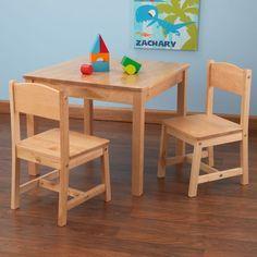 Kindertisch holz  Nature KidKraft Kindertisch-Stuhl-Kombination Aspen aus Holz ...