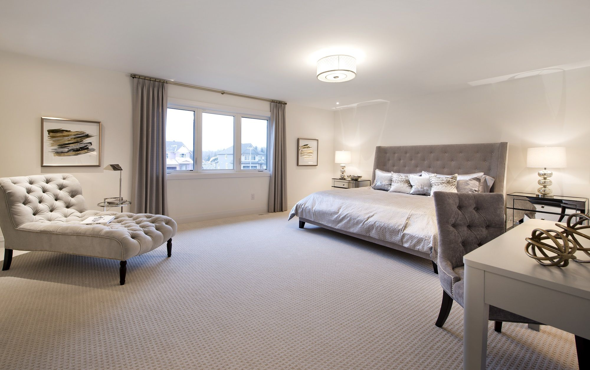 This is the Master Bedroom in our Cambridge model home in