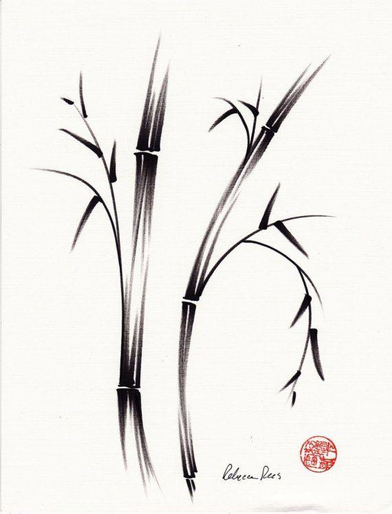 MORNING Original Zen brush pen sumie wash by BeccasPlace on Etsy ... 74484ec89086