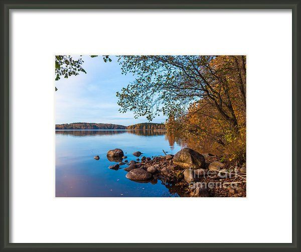 """Autumn On The Rocks by Ismo Raisanen. The watermark (""""Fine Art America"""") doesn't appear in the print you buy."""