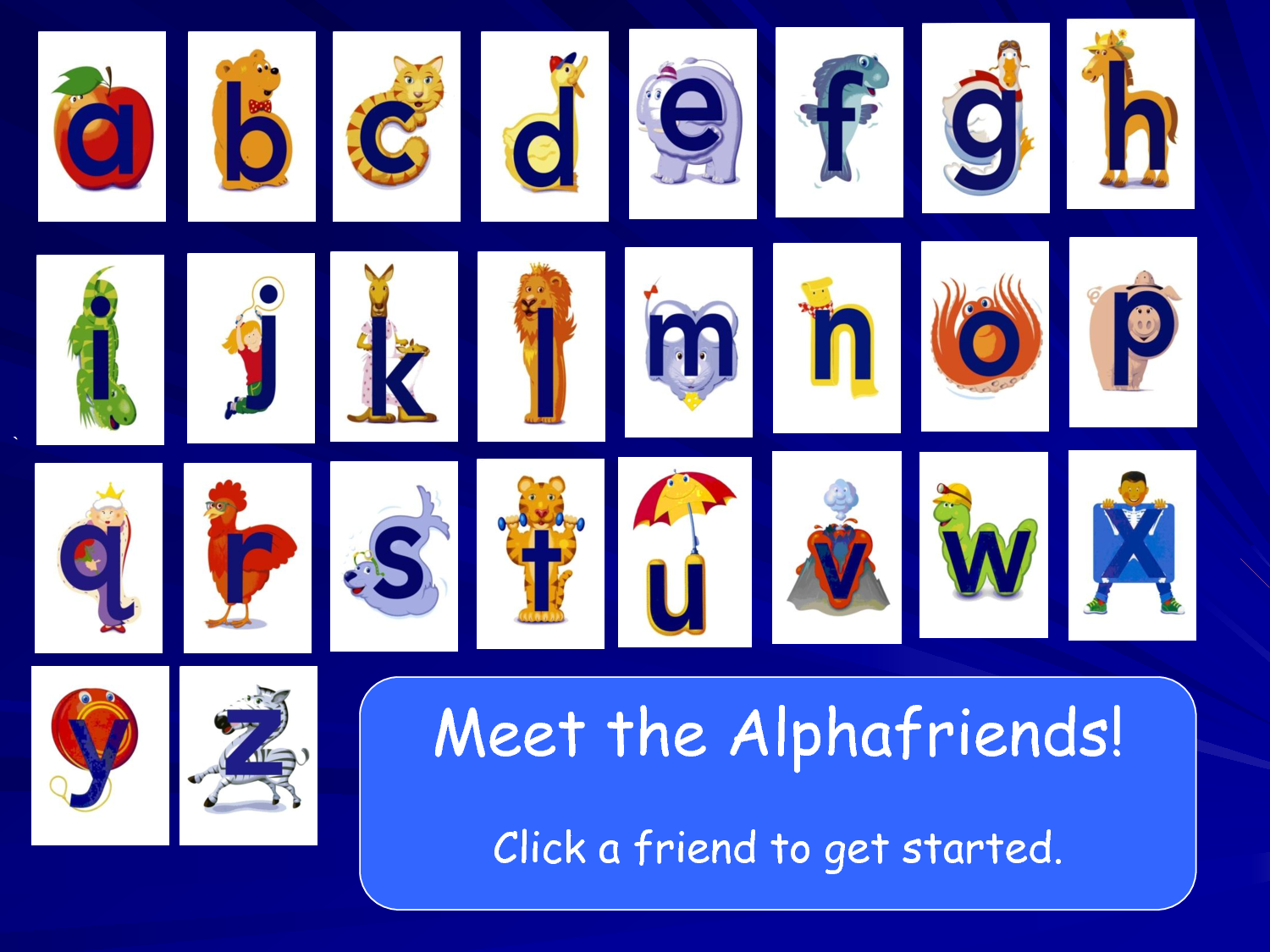 image regarding Alphafriends Printable called Alphafriends Ability Actuality Presentation.ppt Alpha Pals