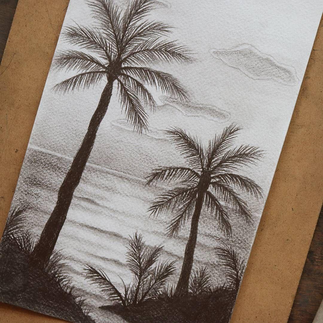 تعليم الرسم كيف ترسم منظر طبيعي بسيط رسم رصاص منظر