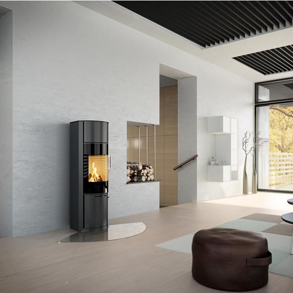 Rais Stoves | Rais Hera With Glass Door And Closed Storage Compartment. Wood  Burning ...