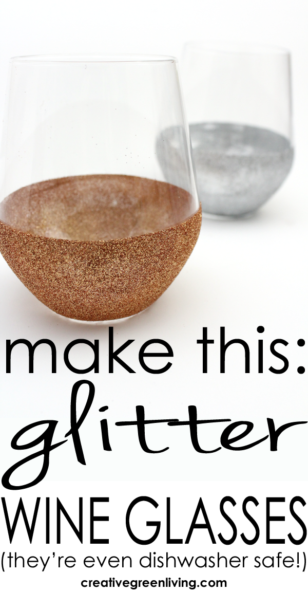 How to Make Glitter Wine Glasses
