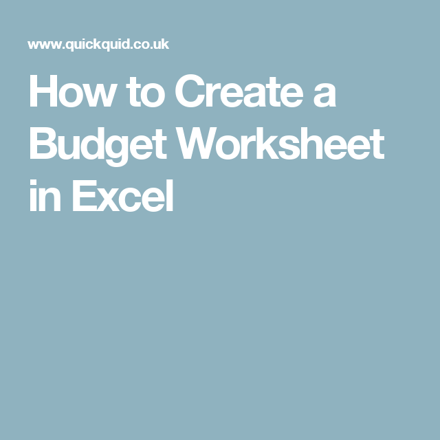 how to create a budget worksheet in excel okay i ll try that