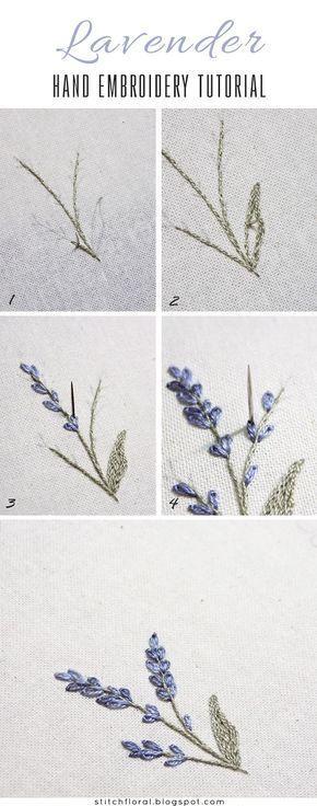 Lavender: embroidered miniature