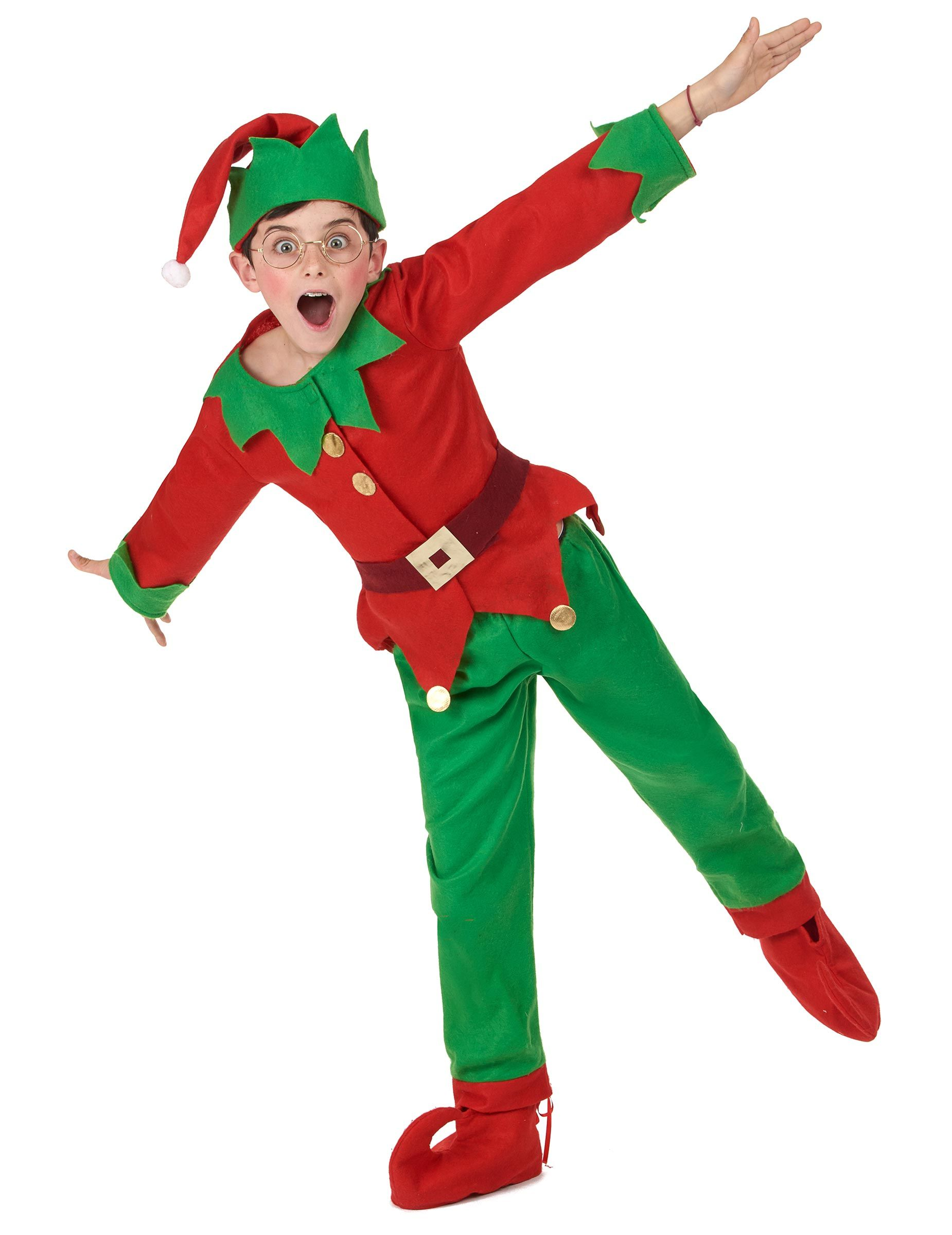 6a9c063a1ba37 Elf Christmas Costume for Kids  This elf costume for children consists of a  hat