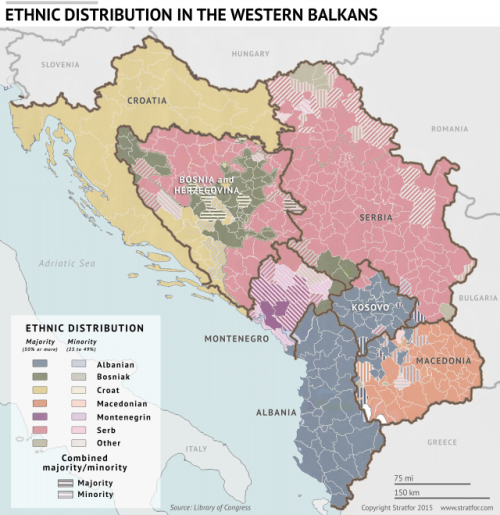 Image result for west Balkans ethnic distribution