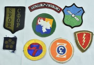 RARE LOT OF FOREIGN MILITARY PATCHES PATCH CUT EDGE FROM AROUND THE