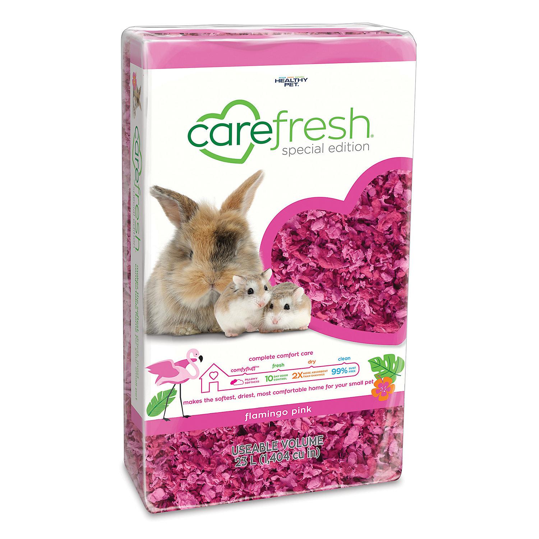Carefresh Flamingo Pink Small Pet Bedding, 23 Liter Pet