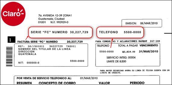 Obtenga Tus Facturas Electronicas Con Claro Guatemala Facilita La Gestion De Tu Empresa Factura Electronica Telefonia Celular Facturas