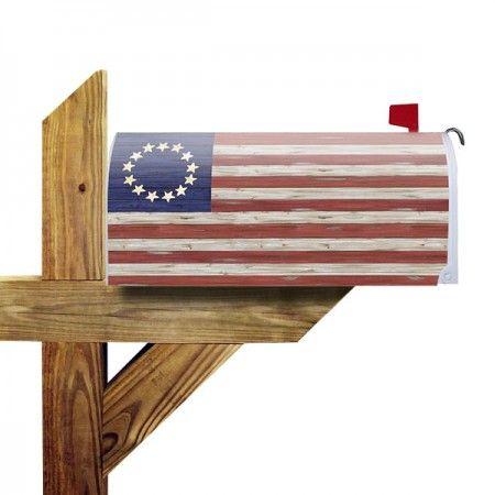 Betsy Ross Rustic Mailbox Cover Rustic Mailboxes Mailbox Covers Mailbox