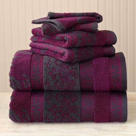 Better Homes And Gardens Thick And Plush 6 Piece Jacquard Cotton