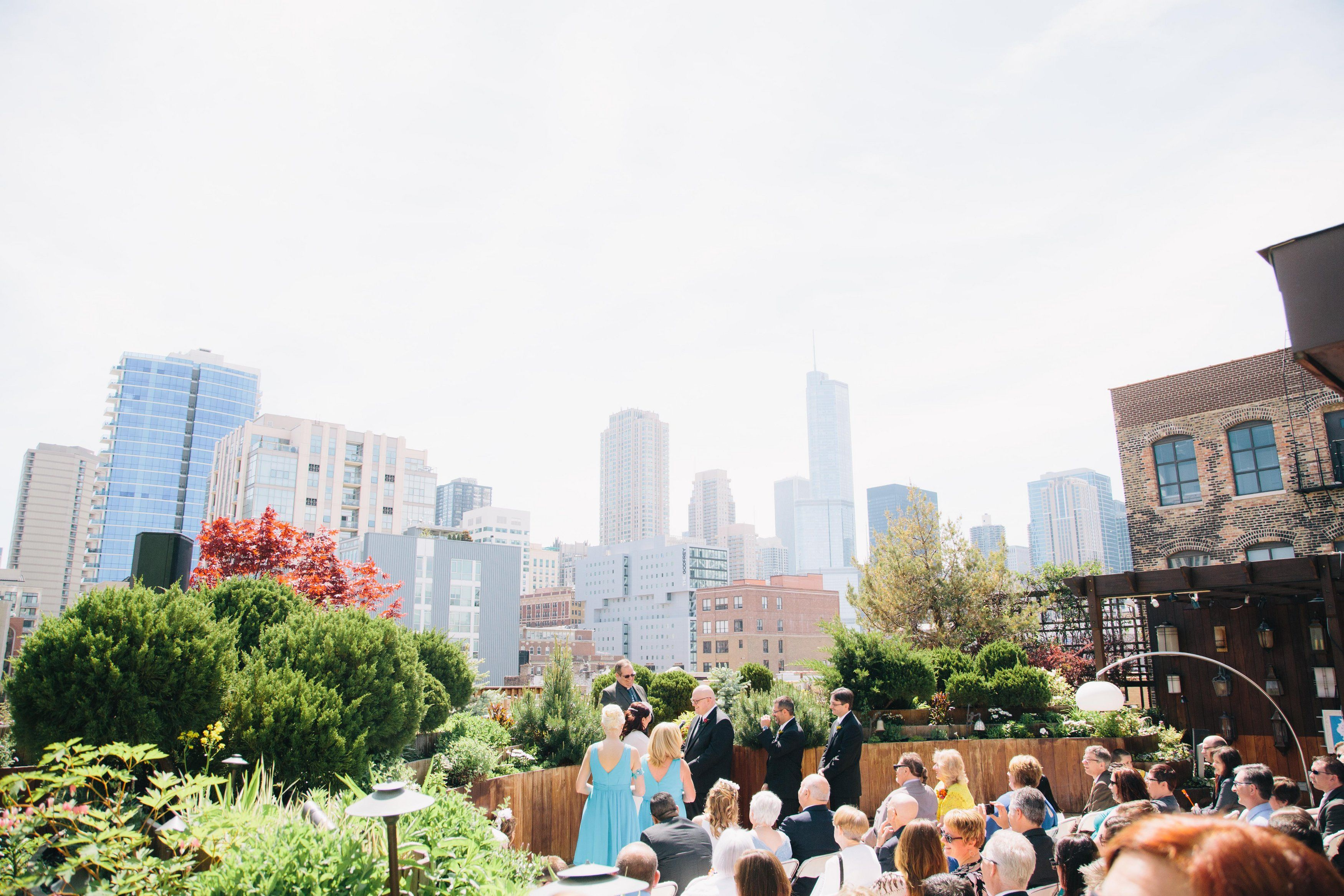 Early Morning Wedding Ceremony At Lightology In Chicago Followed By A Brunch Reception Credit