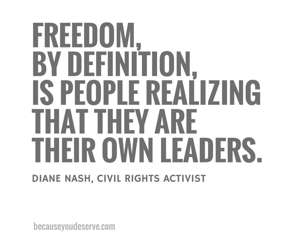 Diane Nash on Freedom   Ain't this cool   Freedom quotes