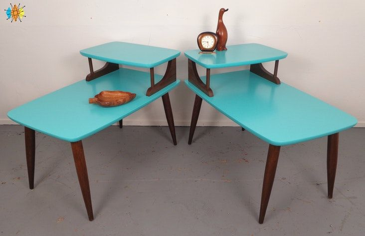 Mid Century 2 Tier Side Tables Mid Century Modern Furniture Stores Mid Century Modern Furniture Mid Century Furniture