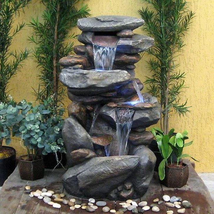 20 Comfy Outdoor Water Fountains Ideas For Garden Landscaping Yard Water Fountains Water Fountains Outdoor Garden Water Fountains