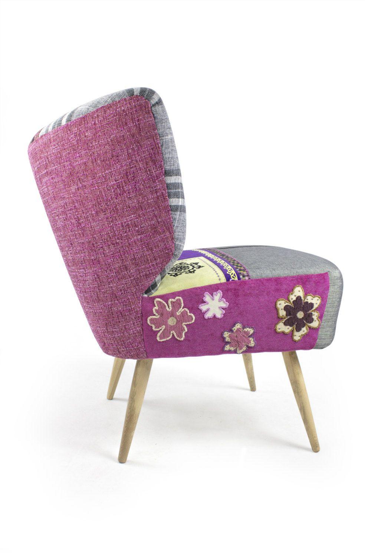 Vintage midcentury modern patchwork armchair me by lasilladesign €795 00