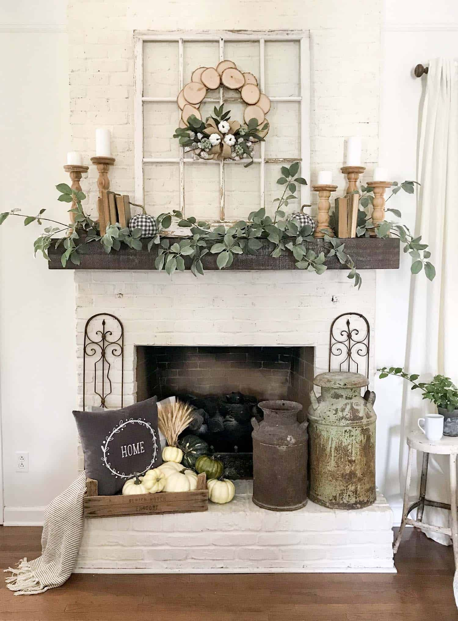 20 Unbelievably Inspiring Fall Mantel Decorating Ideas Farmhouse Mantle Decor Fireplace Mantle Decor Fireplace Mantel Decor
