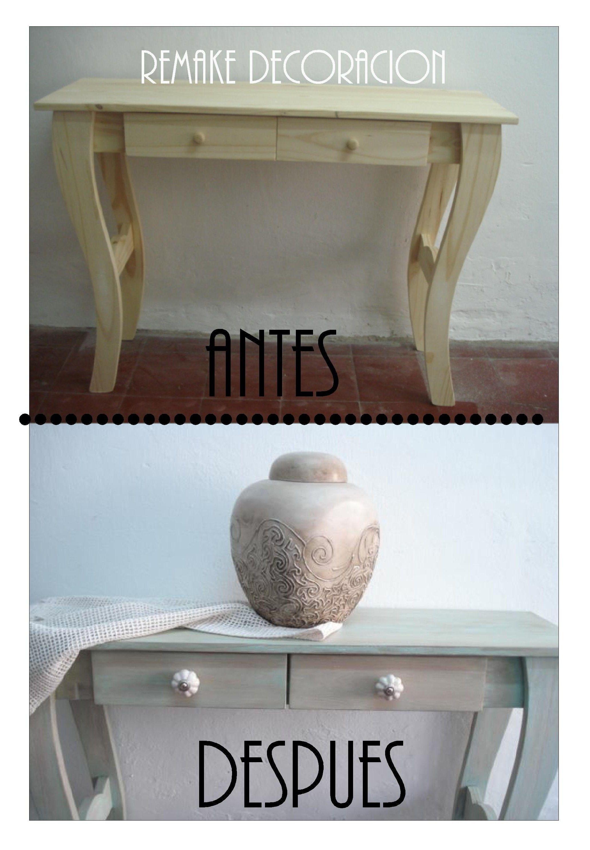 Antes: Mesa de pino Despues: decapado verde y crema/ cambio de ...