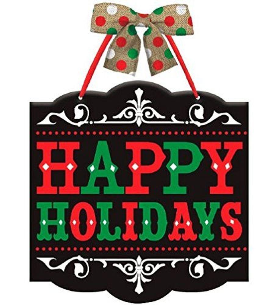 Black Chalkboard Wooden Happy Holidays Wall / Door / Windo... NEW 2-Day Shipping  | eBay