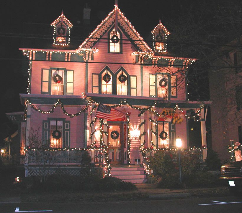 Decorated Homes: The Bacchus Inn Main House, Cape May, New Jersey