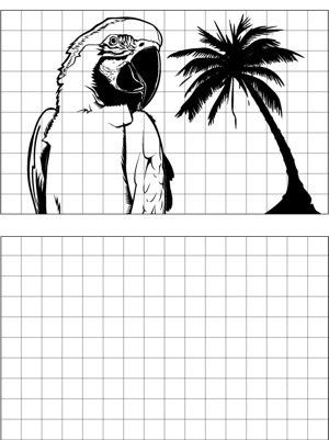 It\'s easy to learn to draw a parrot with this printable drawing tool ...