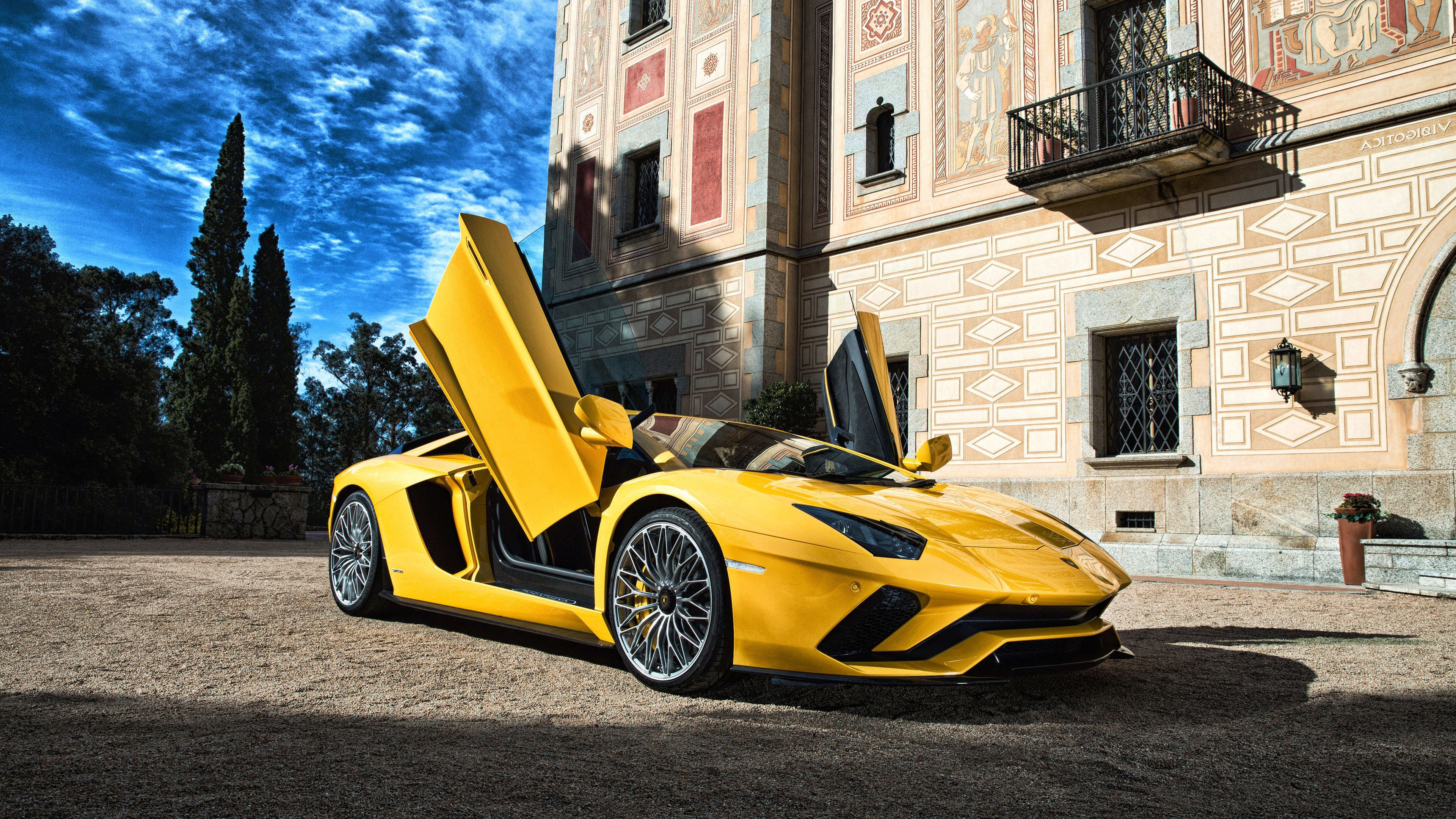 Lamborghini Aventador 5k 4k Yellow Wallpapers Lamborghini