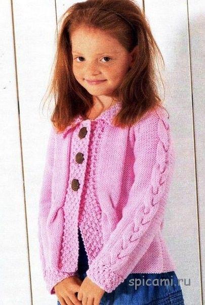 Вязание кофт для девочки мастер класс