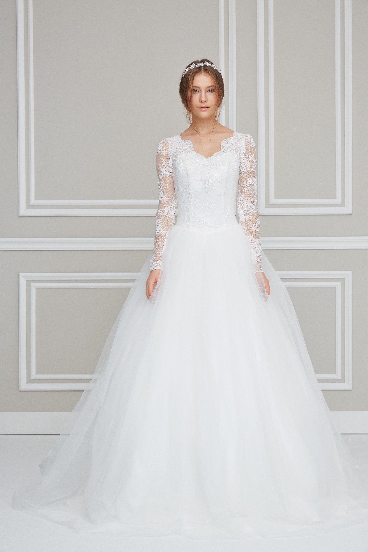 Uzun Kollu Balo Tipi Gelinlik 4xlwpd15092 Gelinlik Dantel Gelinlik The Dress