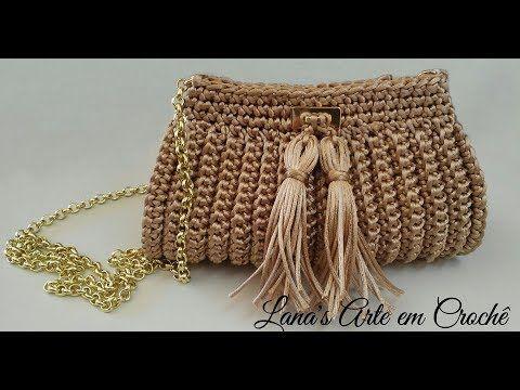 Crochet Elegant Bag Tutorial Com Imagens Bolsas De Croche