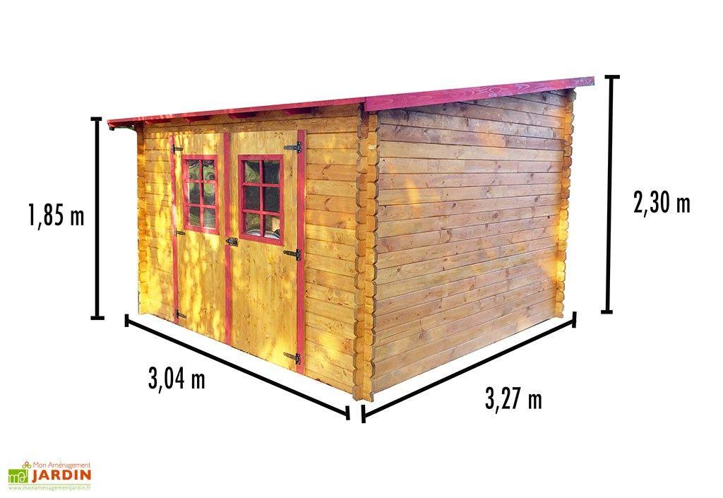 plus récent 59ba3 39bad Abri de Jardin en Bois avec Toiture 1 pente 300x300cm (Sens ...