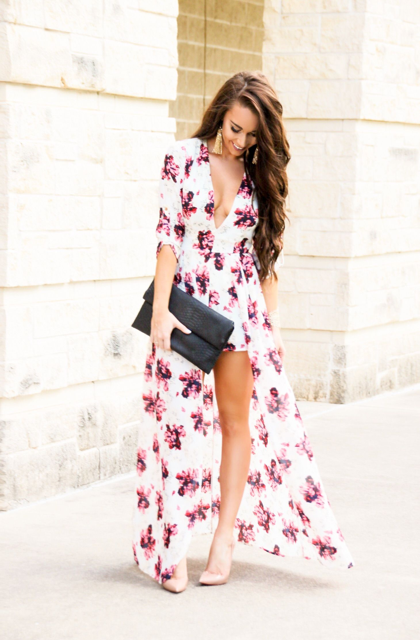 aa8e6faa7ab Floral Maxi Romper - Sunshine   Stilettos Blog (Instagram   katlynmaupin)