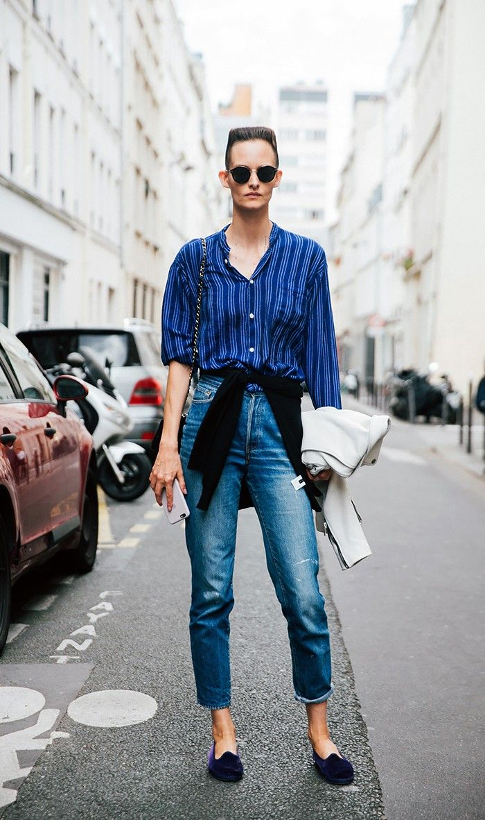 13 Outfit Formulas for High-Waisted Jeans via @WhoWhatWearUK