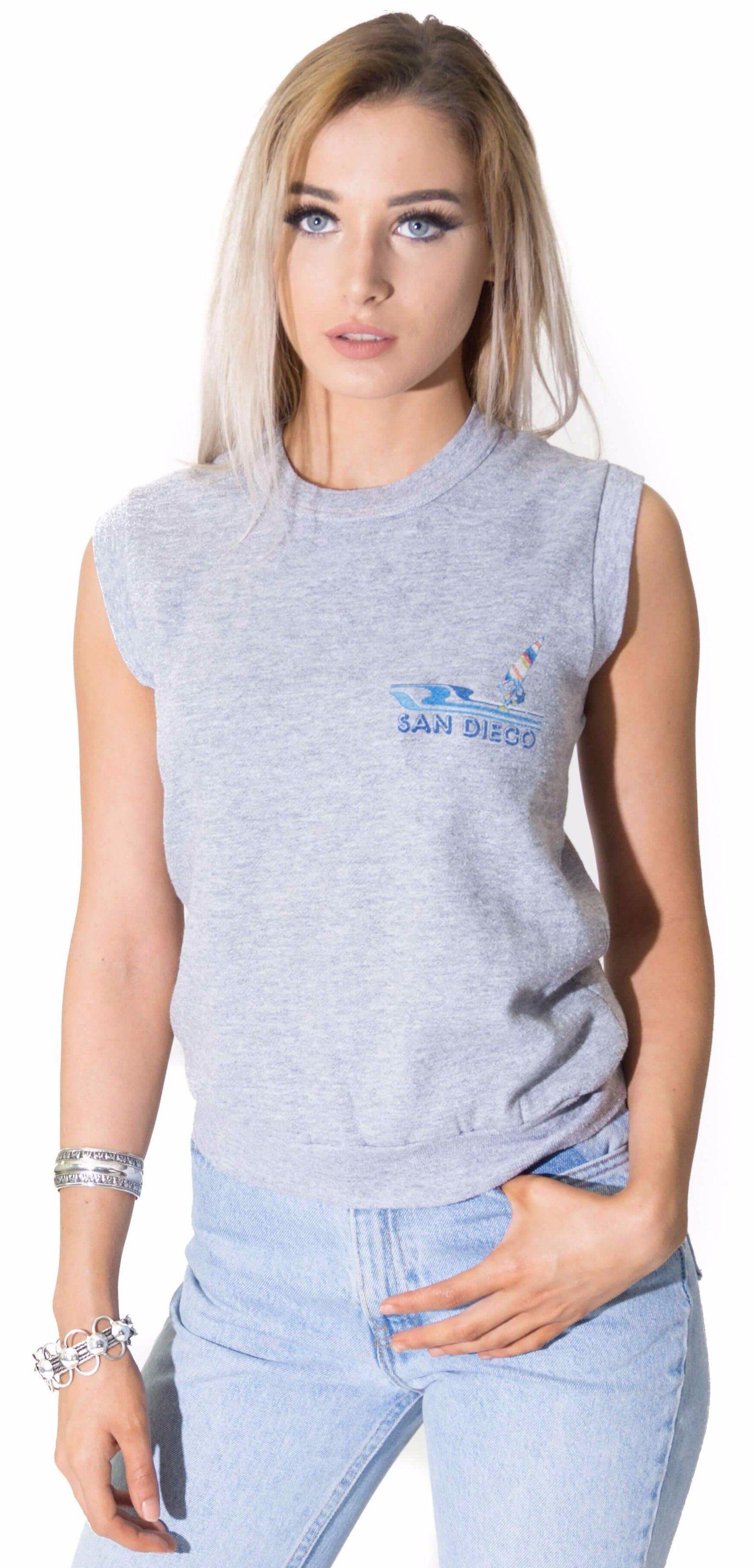 09131aca0015bd Retro San Diego Vintage Tank T-Shirt